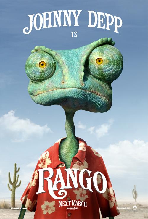 Poster de Johnny Depp como Rango